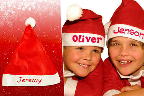 London Exchainstore - Personalised kids Santa hat add the name of your choice - Save 83%