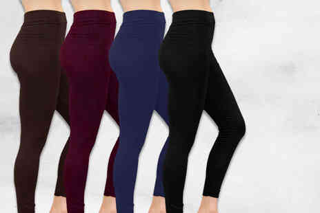 Nothing New 2 Wear - Two pairs of fleece lined leggings choose from four colours - Save 80%