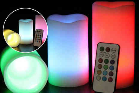 Chimp Electronics - Three LED colour changing flameless candles - Save 8 3%
