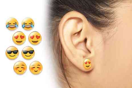 Solo Act - A set of four emoji earrings - Save 83%