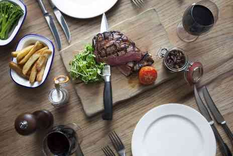 Bar Brig - Hot Stone Steak With Fries and a Glass of House Wine For Two - Save 0%
