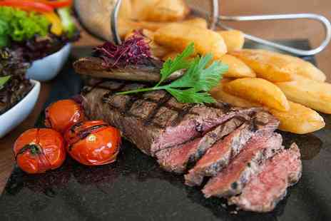 The William B - Two Course Steak Meal with Wine or Cocktail for Two or Four - Save 57%