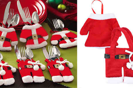HB Wholesale - Christmas Cutlery Holder Socks 2 or 16 - Save 0%