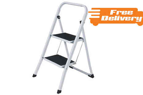 M and M Deals  - Non Slip Foldable Steel Stepladder With Free Delivery - Save 0%