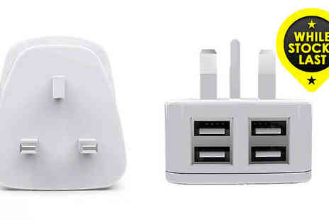 Uk Groupe - UK Mains Four USB Port Charger - Save 47%