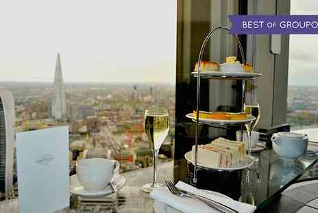 Vertigo 42 - Sky High Champagne Afternoon Tea for Two or Four with Panoramic Views of London - Save 50%