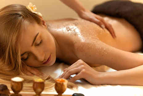 California Beauty - 90 min pamper package including a full body scrub, shrinking violet body wrap and express facial - Save 54%