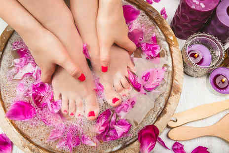 CoCo NaNa Beauty Salon - Luxury gel manicure and pedicure, an express facial and Prosecco - Save 70%