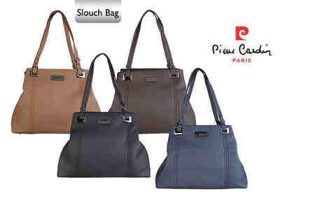 IDT Spa - Pierre Cardin handbag choose from tote or slouch styles in navy blue, camel, grey or mink - Save 64%