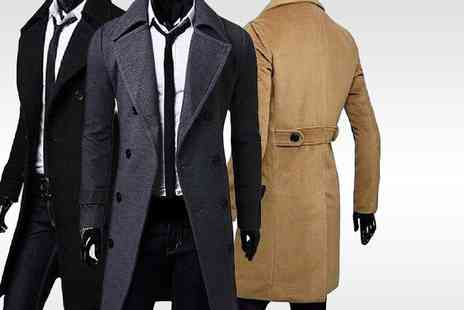 Bluebell Retail - Mens smart overcoat choose from three colours - Save 69%