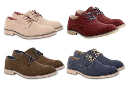 Online Avenue - Pair of mens faux suede Oxford shoes choose from four colours - Save 73%