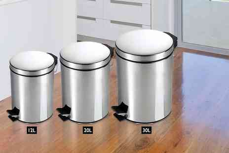 direct2publik - 12 or 20 litre chrome pedal bin - Save 71%