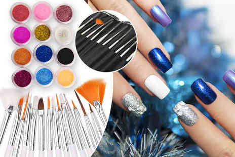 Boni Caro - Nail art kit and glitter nail powder - Save 80%