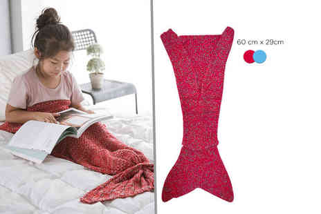 EF Mall - Kids mermaid tail blanket choose from two colours - Save 78%