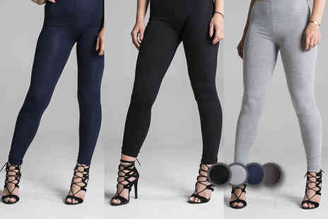 Nothing New 2 Wear - Pair of full length plain leggings choose from four colours - Save 64%