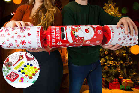 Partikle - A giant Christmas cracker with hats, gifts and games for up to six people - Save 72%