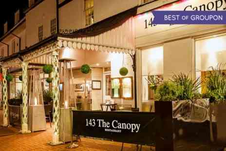 143 The Canopy Restaurant - Hot Stone Steak With Cocktail For Two or Four - Save 52%