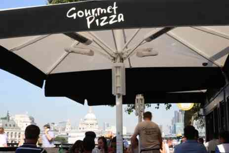 Gourmet Pizza Gabriels Wharf - Two Course Meal with Wine for Two or Four - Save 48%