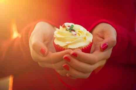 Queen of Tarts - Box of 6 or 12 Festive Mince Pie Cupcakes with Brandy Butter Frosting - Save 0%
