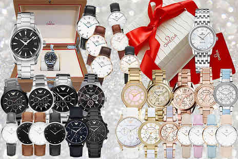 The Watch Supermarket - One in 25 mystery watch deal for him or her get a simply stunning Micheal Kors, Omega, Emporio Armani, Daniel Wellington and more - Save 0%