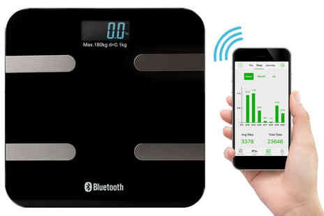 Ckent - BAS TeK bluetooth digital glass body fat scales - Save 43%