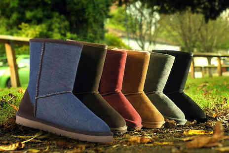 Evaniy Accessories - Pair of merino wool lined boots choose from six autumnal colours - Save 75%