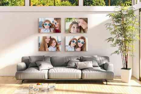 Photo Gifts - Two or Three Personalised Canvas Prints - Save 76%