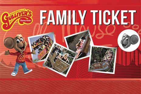 Gullivers - Gift ticket for a family of four to any Gullivers Theme Park in a choice of three locations - Save 49%