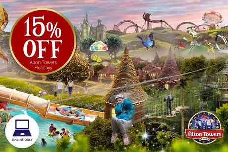 Holiday Extras - Alton Towers one night break with two day park entry and breakfast  - Save 0%