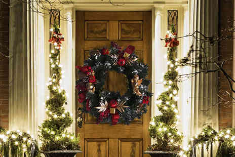 Planet of Accessories - 16 inch Christmas wreath - Save 53%
