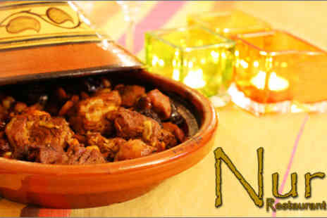 Nur Restaurant - Egyptian meal for two worth up to £40.80 - Save 61%