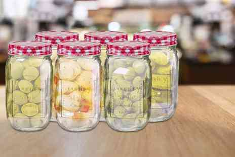 direct2publik - Set of six glass Mason jars - Save 74%
