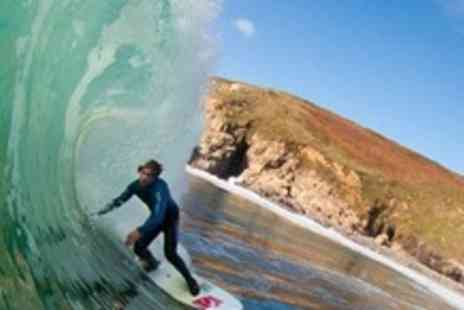 Newquay Surfing School - Full Day Surfing For Two With Lesson Plus Board and Wetsuit Hire - Save 60%