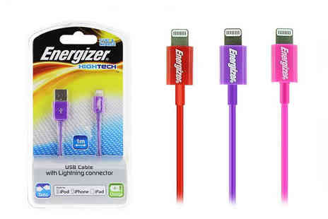 IUEG  - 1M Energizer Lightning Cable in 3 Colours - Save 71%