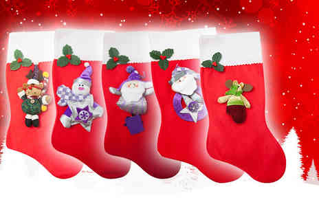 Planet of Accessories - Two novelty Christmas stockings - Save 67%