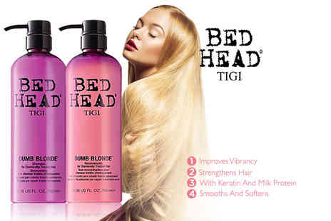 The Beauty Store - Tigi Bed Head Dumb Blonde shampoo and conditioner set - Save 73%