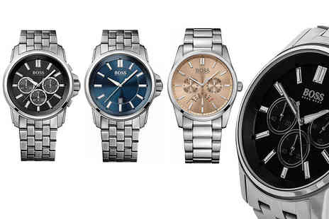 Class Watches - Hugo Boss mens chronograph watch choose from three designs - Save 42%