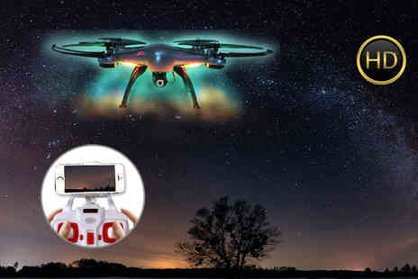 Consumable Direct - HD camera quadcoptor drone choose either blue or white - Save 70%