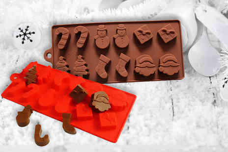 London Exchainstore - Christmas chocolate mould tray with 12 moulds - Save 67%