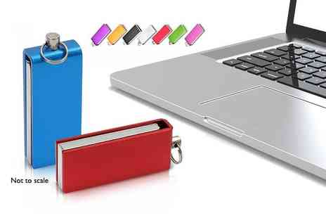 EF Mall - 64GB USB stick choose from black, blue, gold, green, pink, purple, red and silver - Save 73%