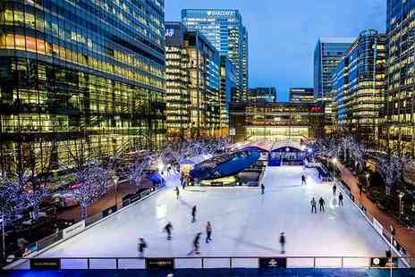 Ice Rink Canary Wharf - Off peak LUMINOCITY Ice Rink Canary Wharf ticket for two people including skate hire - Save 30%