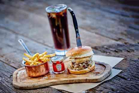 Marco Pierre White Steakhouse - Gourmet burger meal with triple cooked chips for two - Save 44%