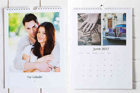 MyMemory - A4 personalised wall calendar or A3 calendar - Save 72%
