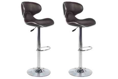 Groupon Goods Global GmbH - Two Eclipse, Casino or Toledo Bar Stools With Free Delivery - Save 0%