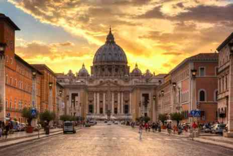 KPX Travel - Two Nights Stay with London, East Midlands, Manchester and Bristol Flights and Optional Vatican Tour on Nov 2016 to Apr 2017 - Save 0%