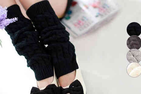 Marcus Emporium - Knitted Winter Leg Warmers Four Colours - Save 77%