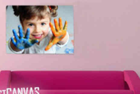 Fast Canvas Prints - 34 inch x 46 inch personalised photo canvas - Save 77%