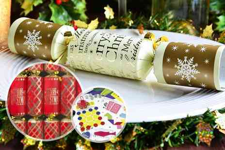 Partikle - Pack of 12 luxury Christmas crackers - Save 80%