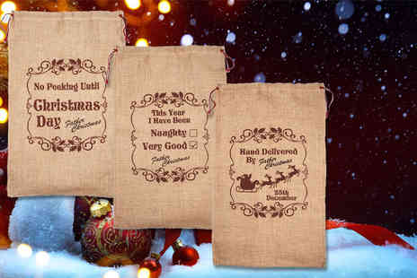 London Exchainstore - Kids personalised Christmas sack choose from three designs - Save 60%