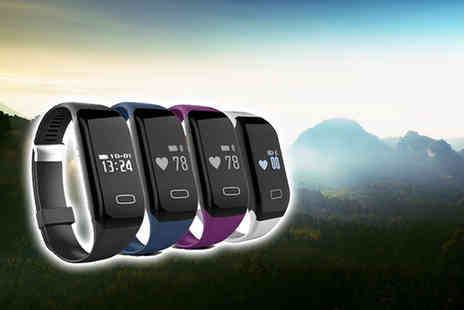 EF Mall - Bluetooth sports activity bracelet with heart rate monitor choose from four colours - Save 86%